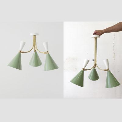 Colgante / Plafón Belén - 3 Luces - New Mid Century - Iluminación