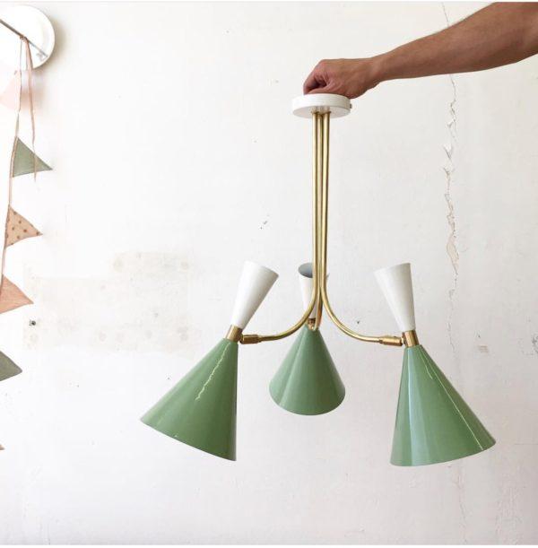 Colgante Plafon Belen – 3 Luces – New Mid Century – Iluminacion – Liderlamp (2)