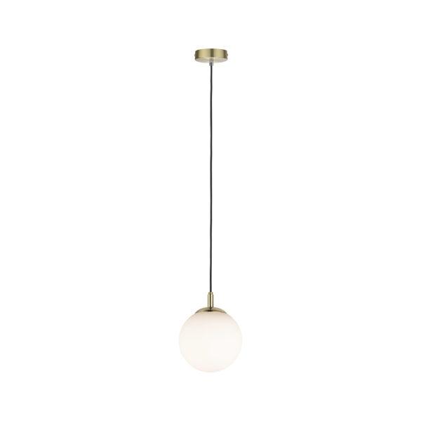 Colgante Poma – Lampara de bola cristal – laton cepillado – Liderlamp (1)