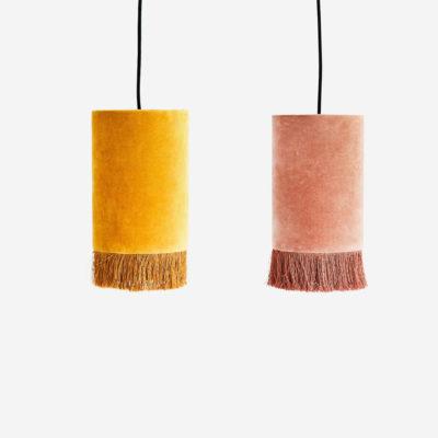 Colgante Puce - lampara colgante - terciopelo - flecos - Liderlamp (2)