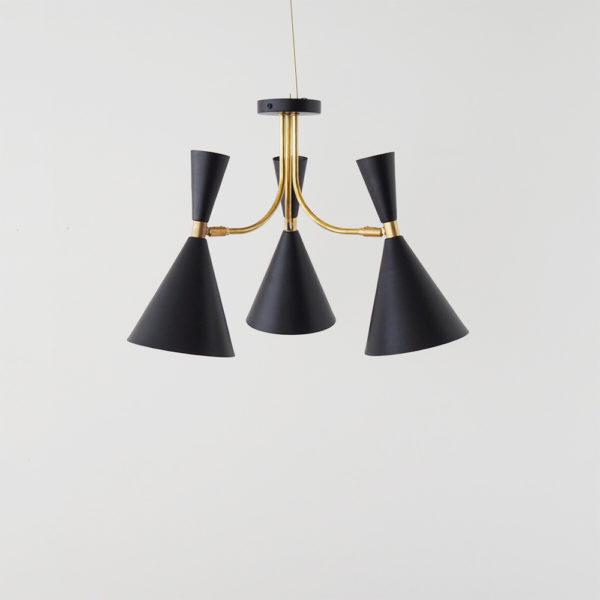 Plafon Belen – Blanco y Negro – New Mid Century – Lampara de techo – Liderlamp (2)