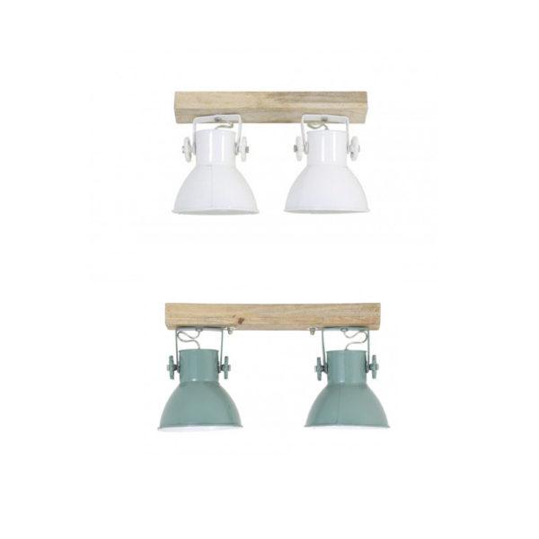 86e1681b41a Plafon Elay – 2 luces – Madera y metal -lampara de techo – aplique –