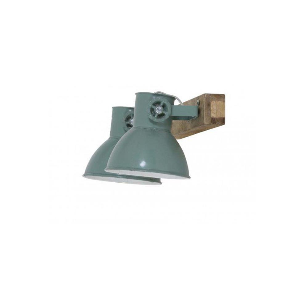 7243b4042c0 Plafon Elay – 2 luces – Madera y metal -lampara de techo – aplique ...