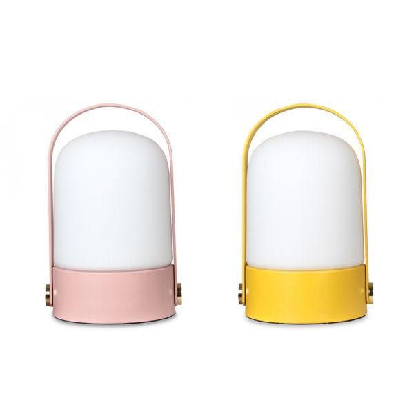 Sobremesa Ondina – metal y cristal – asa – cable de tela – Liderlamp (7)