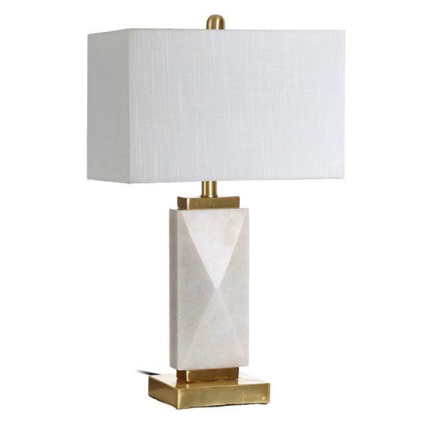 Sobremesa Tivoli – Lampara de mesa – Color crema – hierro y marmol (2)