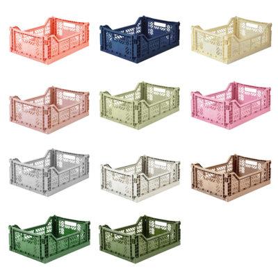 Caja Plegable - Midi - Almacenaje pequeño - macetera - decoracion - cesta de bicicleta - organizacion cocina - despensa - juguetes -Liderlamp (5)