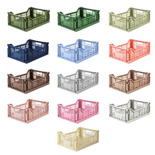 Caja Plegable – Midi – Almacenaje pequeño – macetera – decoracion – cesta de bicicleta – organizacion cocina – despensa – juguetes -Liderlamp (6)