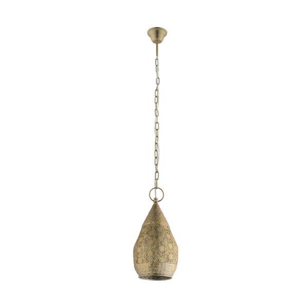 Colgante Menia – Tendencia arabe – acero labrado – dorado – farol – Liderlamp (1)