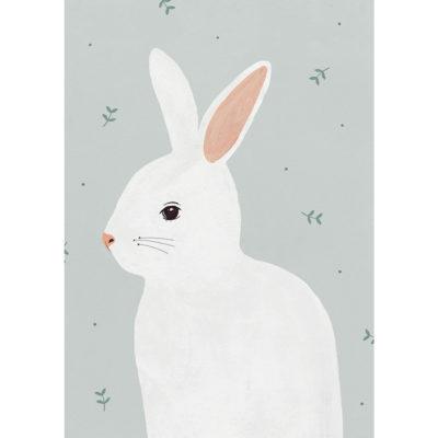 Lámina Conejo - habitación infantil - Hermano Gato - Liderlamp