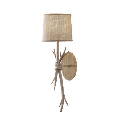 Aplique Dafne - estilo rústico - natural chic - rama de madera