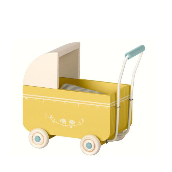 Carrito de madera amarillo – Maileg – decoracion infantil – conejo y ratones -Liderlamp