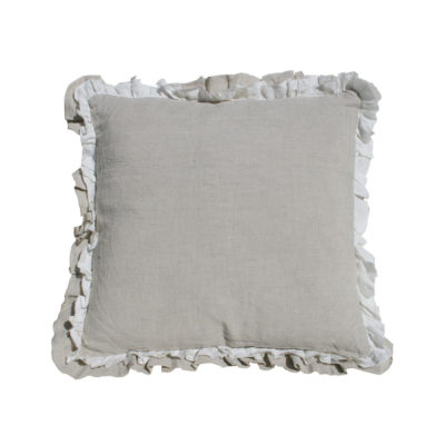 Cojin volante -cuadrado - natural - decoracion textil - natural chic - Liderlamp (1)