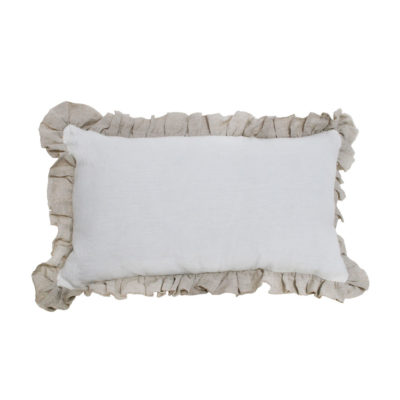Cojin volante - rectangulo - blanco - decoracion textil - natural chic (1)