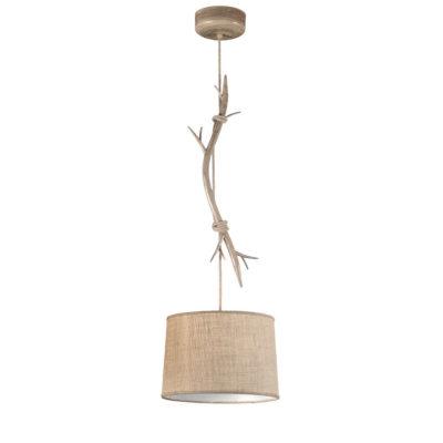 Colgante Dafne M - estilo rustico - natural chic - rama de madera - Liderlamp