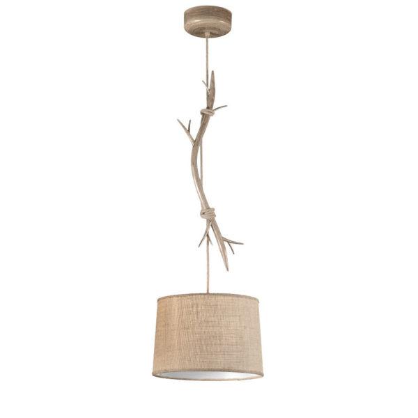 Colgante Dafne M – estilo rustico – natural chic – rama de madera – Liderlamp