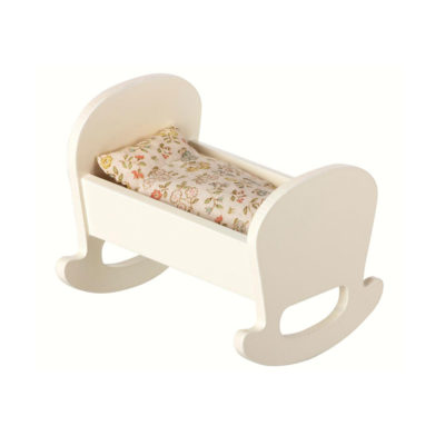 Cuna de madera blanca - Maileg - decoracion infantil - Liderlamp