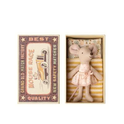 Raton - Little sister - Caja de cerillas - Maileg - decoracion infantil - Liderlamp