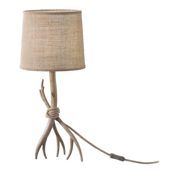 Sobremesa Dafne – estilo rustico – natural chic – rama de madera – Liderlamp (1)