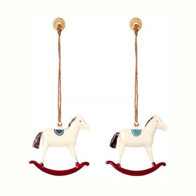 Adorno navideno - caballito - decoracion arbol - original - Maileg - Liderlamp