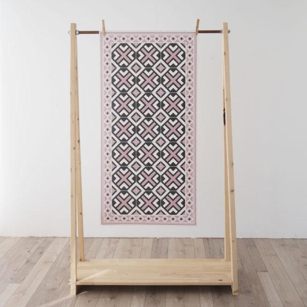 Alfombra vinilica – Geometric Rosa – decoracion – cocina – bano – geometria – Liderlamp