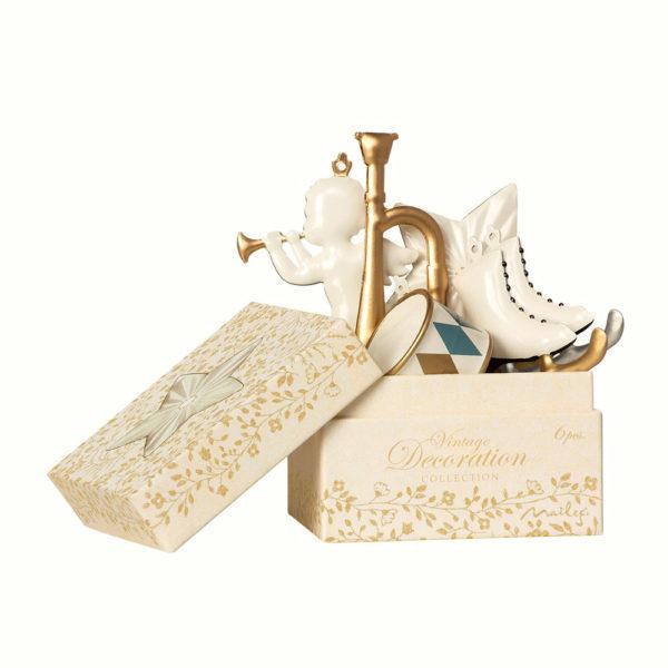 Caja de adornos de Navidad – Dorado – decoracion – arbol – Maileg – Liderlamp (2)