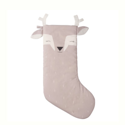 Calcetin navideno ciervo - color piedra - mostaza - mint - Fabelab - Sleepy Deer - Liderlamp