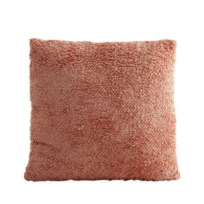 Cojín rugoso - cuadrado - rosa palo - decoración textil - estilo clásico