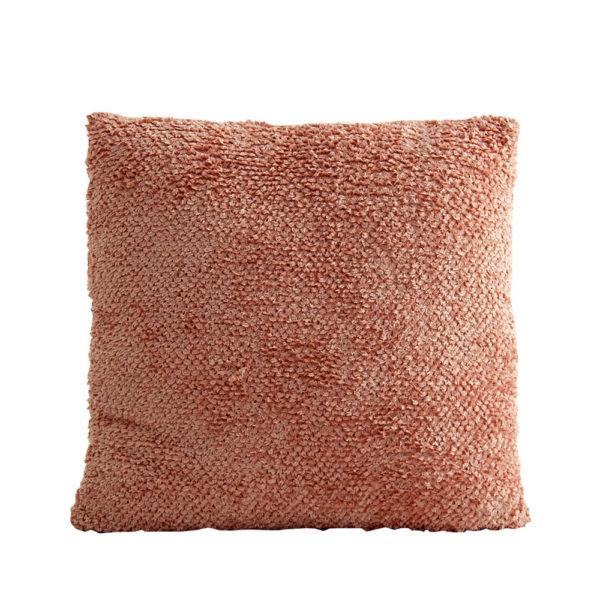 Cojin rugoso – cuadrado – rosa palo – decoracion textil – estilo clasico – Liderlamp