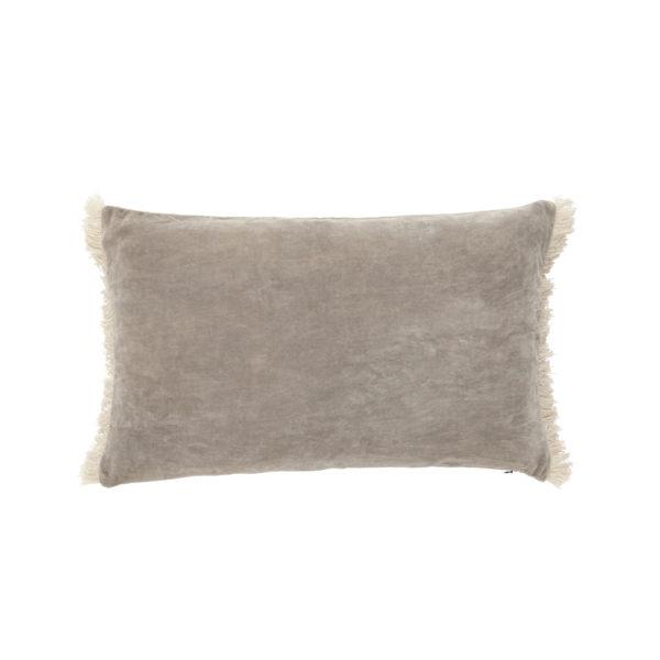 Funda de cojin – flecos terciopelo – – decoracion textil – Liderlamp (1)