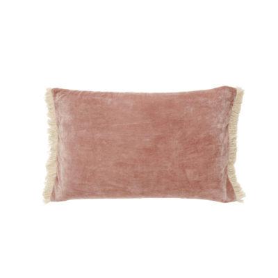 Funda de cojin - flecos terciopelo - - decoracion textil - Liderlamp (2)