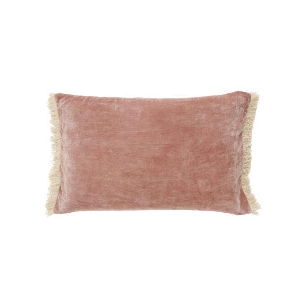 Funda de cojin – flecos terciopelo – – decoracion textil – Liderlamp (2)