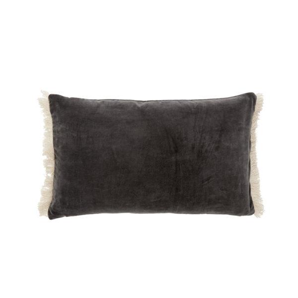 Funda de cojin – flecos terciopelo – – decoracion textil – Liderlamp (3)