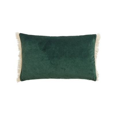 Funda de cojin - flecos terciopelo - - decoracion textil - Liderlamp (4)