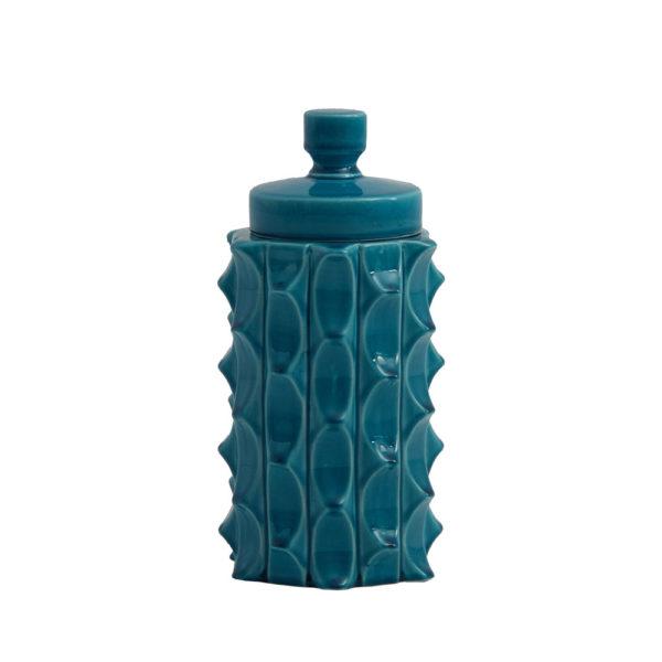 Tibor Masai – pequeno – vaso de ceramica – turquesa – Liderlamp (1)