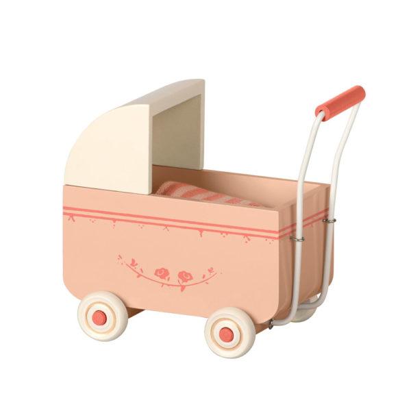 Carrito de madera rosa – Maileg – decoracion infantil Liderlamp
