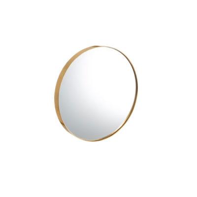 Espejo Isaac dorado - decoracion pared - circular - madera - Ixia - Liderlamp