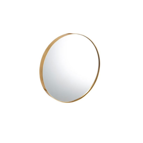 Espejo Isaac dorado – decoracion pared – circular – madera – Ixia – Liderlamp