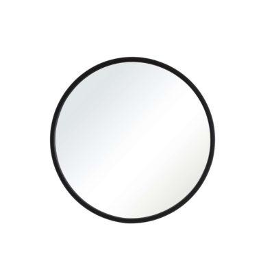 Espejo Isaac negro - decoracion pared - circular - madera - Ixia - Liderlamp