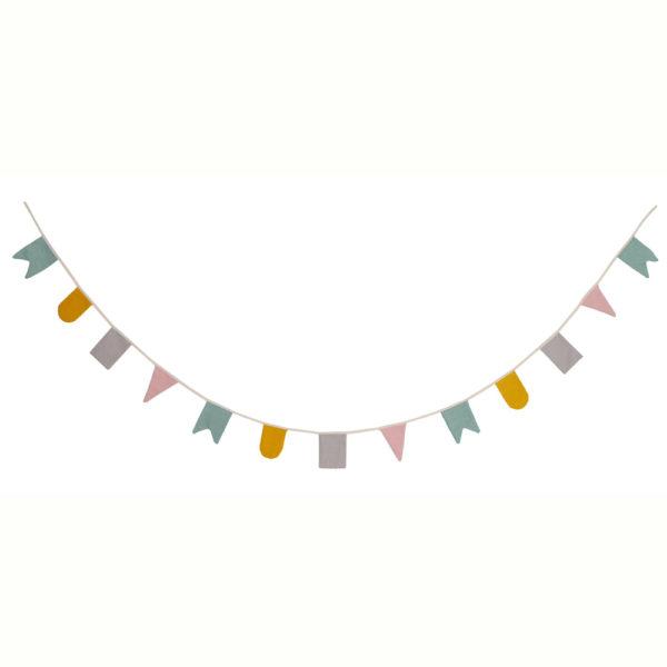 Guirnalda Hip Hip Hurra – Colores pastel – deco infantil – Roommate – Liderlamp
