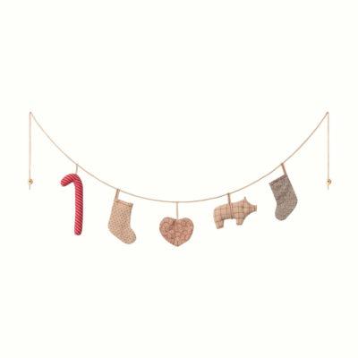Guirnalda navidena - 5 piezas - Maileg - adornos navidenos - decoracion - Liderlamp (1)