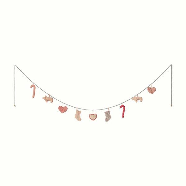 Guirnalda navidena – 9 piezas – Maileg – adornos navidenos – decoracion – Liderlamp (1)