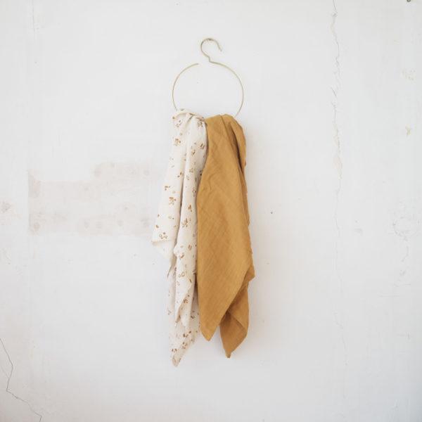 Juego de 2 muselinas – Fabelab – algodon organico – regalo recien nacido – Liderlamp (2)
