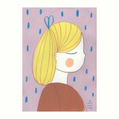 Lamina Ana - Marta Abad - Ilustraciones infantiles - habitación nina - Liderlamp