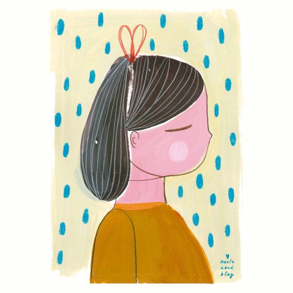Lamina Girl – Marta Abad – Ilustraciones infantiles – decoracion – Liderlamp
