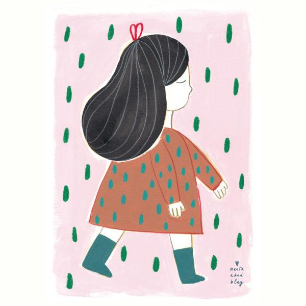 Lamina Irene – Marta Abad – Ilustraciones infantiles – decoracion – Liderlamp