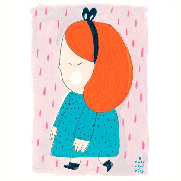 Lamina Laura – Marta Abad – Ilustraciones infantiles – decoracion – Liderlamp