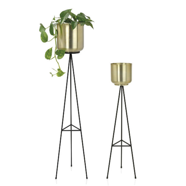 Macetero Tentacle – acabado laton – macetero con patas – Andrea House – Liderlamp