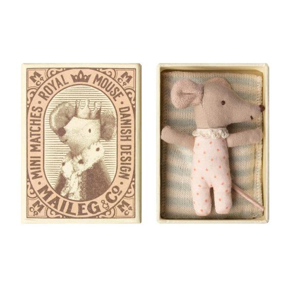 Raton – Baby – Caja de cerillas – Maileg – decoracion infantil – Liderlamp