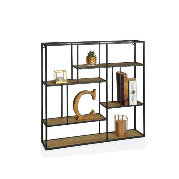 Estanteria Didot – Andreas House – Metal y madera – cuadrada – Liderlamp
