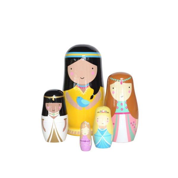 Matrioskas de Madera – Princesses – Petit Monkey – Liderlamp (5)